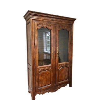Hickory Furniture Illuminated China Display Cabinet For Sale