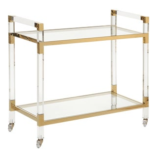 Contemporary Chelsea House Inc Acrylic Bar Cart For Sale