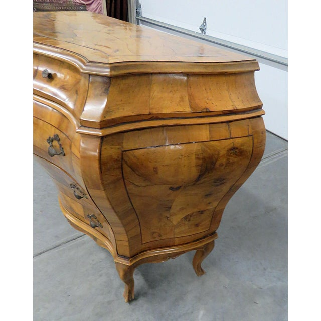 Italian Louis XV Style Bombe Commode For Sale - Image 9 of 13