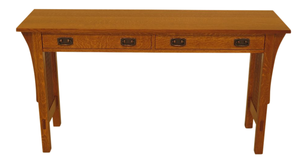 Incroyable Stickley Mission Oak 2 Drawer Sofa / Console Table