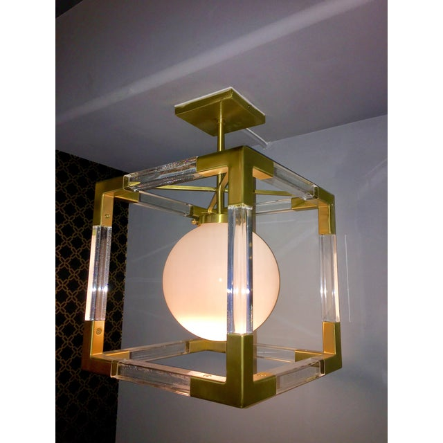 Jonathan adler jacques brass lucite pendant chairish jonathan adler jacques brass lucite pendant image 3 aloadofball Image collections