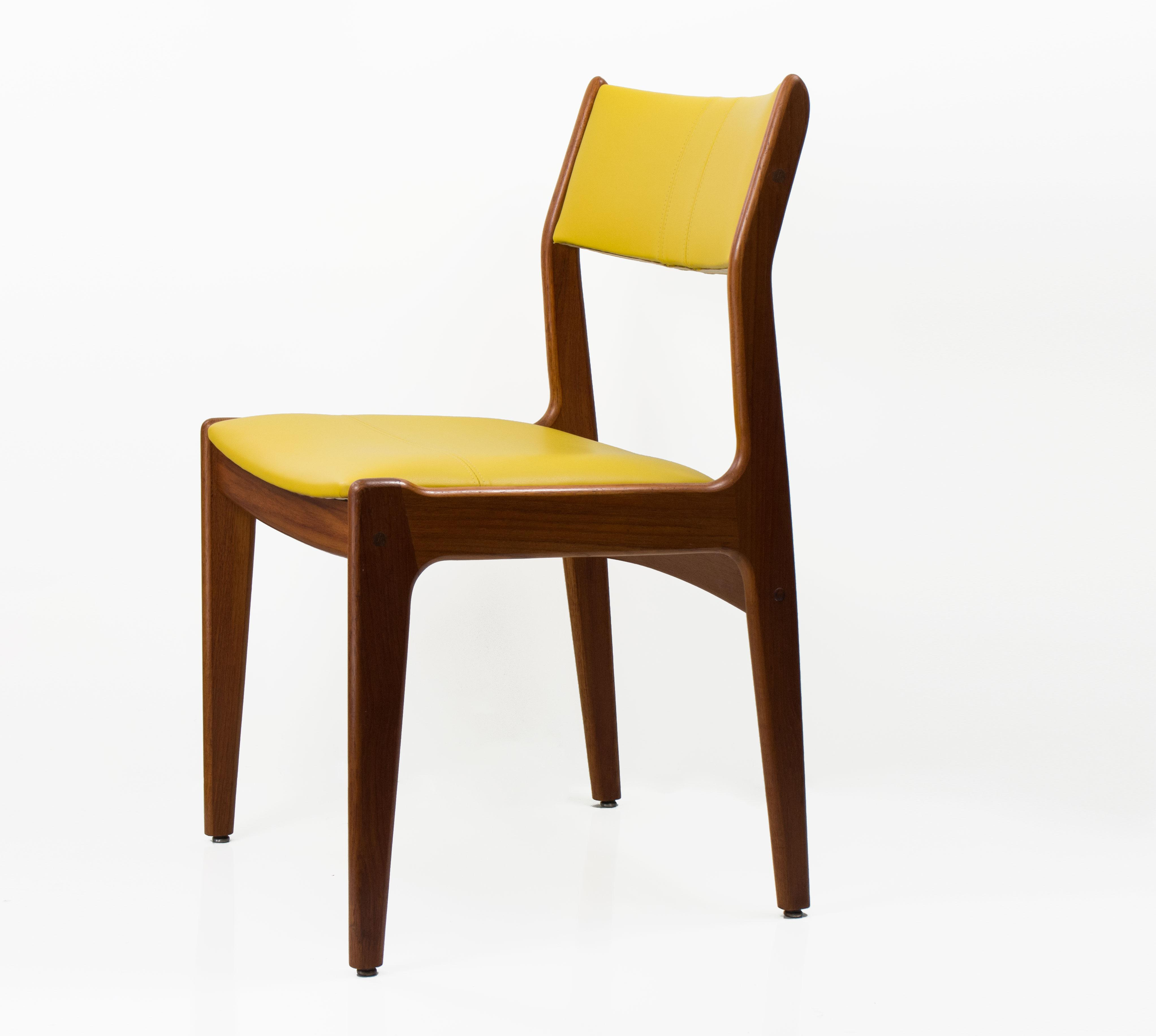 Superieur Danish Modern Mid Century Danish Style Leather U0026 Teak Chairs  Set Of 4 For