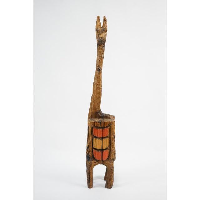 Vintage Mid-Century Wood Llama Magazine Caddy For Sale - Image 10 of 10