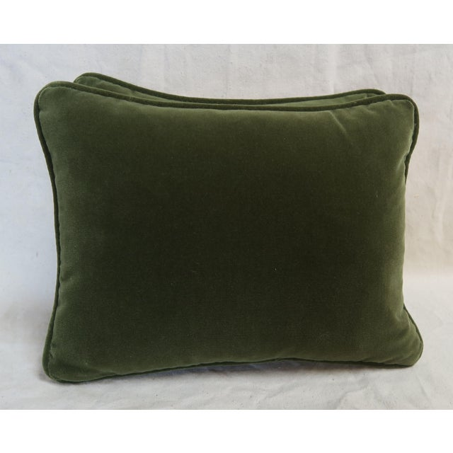 Cotton Pair of Green Orsini Fortuny Pillows For Sale - Image 7 of 8
