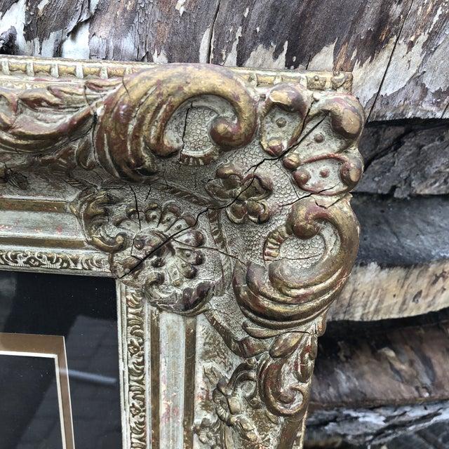 1920s Antique Baroque Frame For Sale - Image 4 of 8