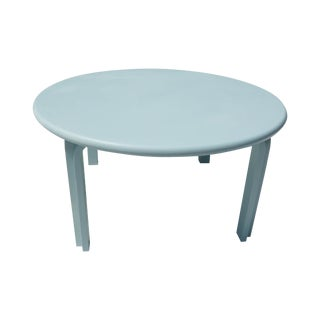 Light Blue Mid-Century Coffee Table For Sale