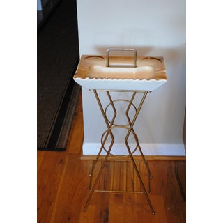Vintage Mid-Century Modern Smoking Cocktail Magazine Ashtray Stand Table Preview
