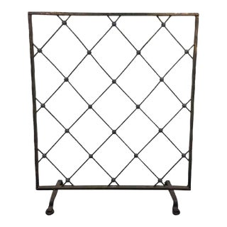 Jean Royère Style Iron Screen or Room Divider For Sale