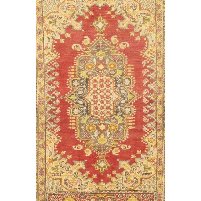 "Hand-Knotted Oushak Rug - 4' X 6'8"" - Image 2 of 2"