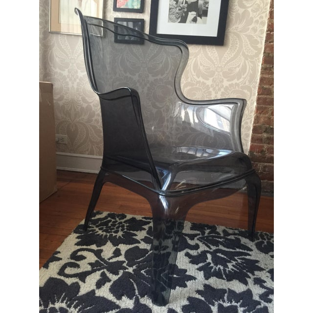Pasha 660 Grey Lucite Armchair - Image 2 of 2