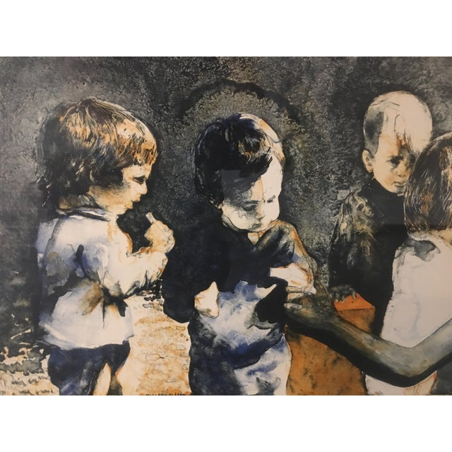 """Brown """"The Gift"""" Ruth Weisberg Lithograph For Sale - Image 8 of 11"""