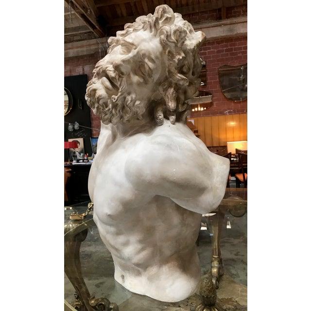 "Figurative ""Laocoon"" Plaster Bust Sculpture For Sale - Image 3 of 13"