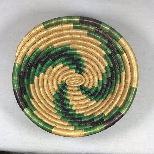 Handmade African Grass Basket - Image 10 of 11
