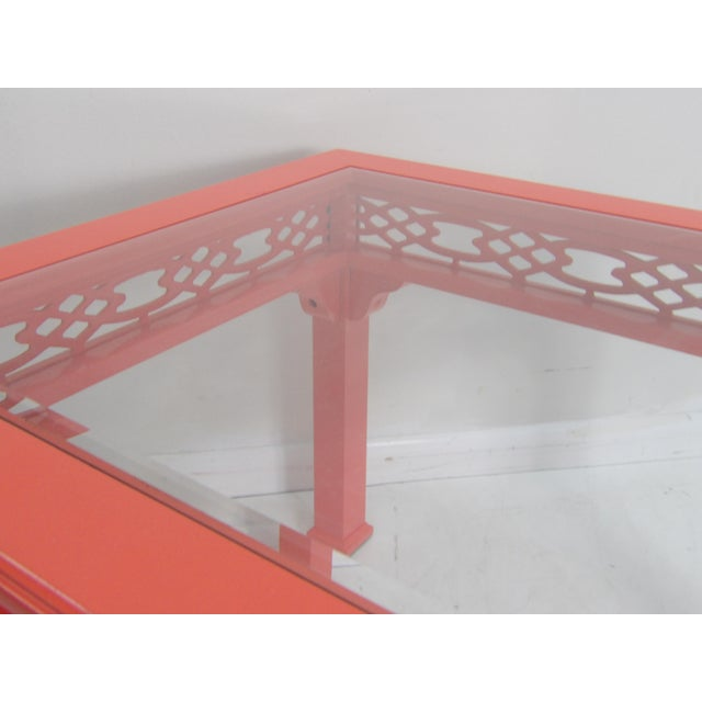 Contemporary Coral Class Top, Decorative Coffee Table For Sale In West Palm - Image 6 of 7