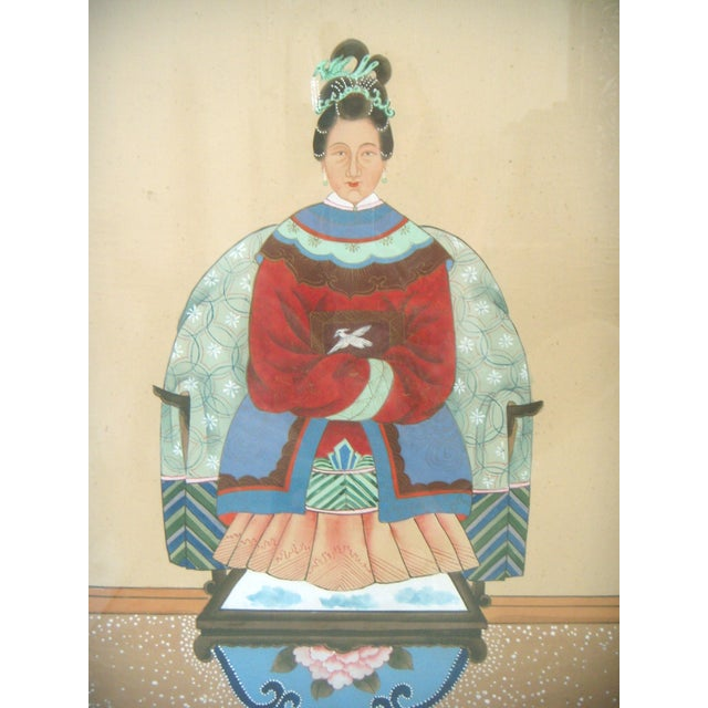 Fine Chinese Ancestor Portrait Paintings - Pair - Image 5 of 9