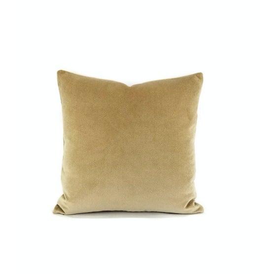 Holly Hunt Aqua Velvet Sand Pillow Cover For Sale - Image 9 of 10