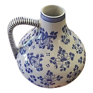 Early 19c French Utzschneider & Cie Sarreguemines Pitcher For Sale