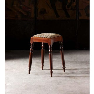 English Needlepoint Stool With Turned Legs Preview
