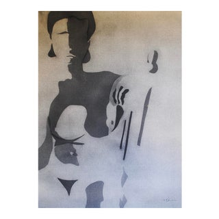 Framed Vintage Figurative Drawing For Sale