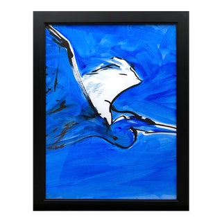 "Contemporary Ink Painting ""Great Blue 3"", Heron Series, by James Repton For Sale"
