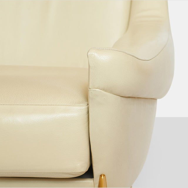 White Pair of Lounge Chairs by Charles Ramos For Sale - Image 8 of 9