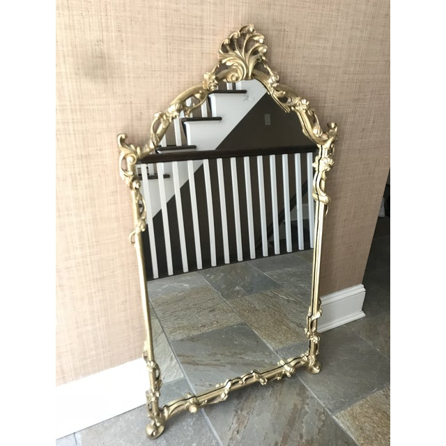 Chinoiserie Gold Carved Wall Mirror For Sale - Image 10 of 13