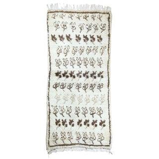 1970s Vintage Berber Moroccan Rug, 2′8″ × 5′9″ For Sale