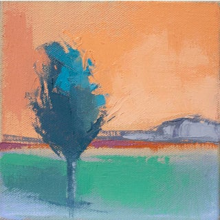 "Carrie Megan ""Lone Tree"" Contemporary Abstract Oil Painting For Sale"