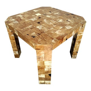 The Rudolph Collection, Square Tessellated Horn Side Table, Vintage For Sale