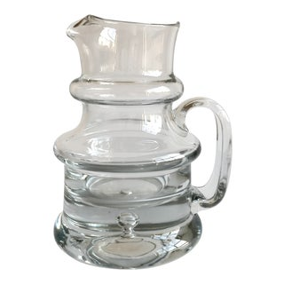 Molded Glass Pitcher
