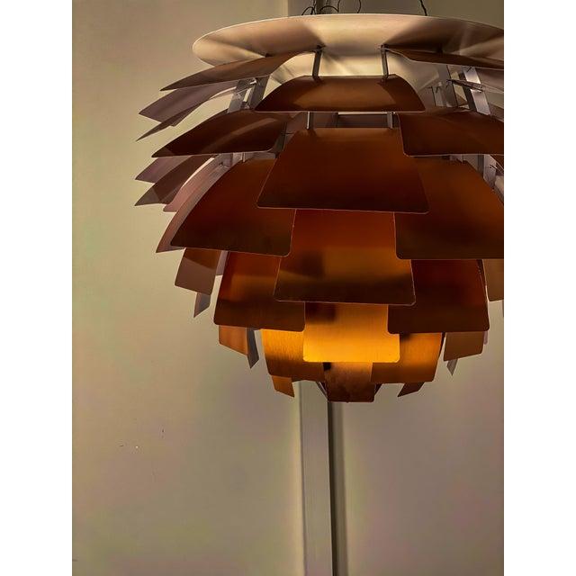 "Circa 1970's Poul Henningsen ""Artichoke"" pendant in copper. Made by Louis Poulsen, Denmark. All original. Comes with..."