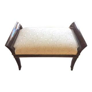 Panache Designs Handeled Walnut Bench For Sale