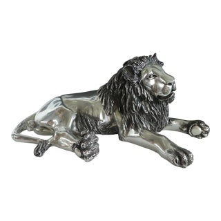 Claudio Enriquez d'Argenta Silver Plated Lion For Sale