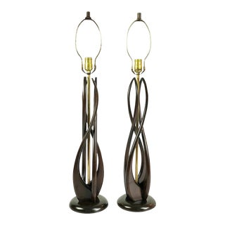 Midcentury Mexican Modernist Table Lamps by Luxolix - a Pair For Sale