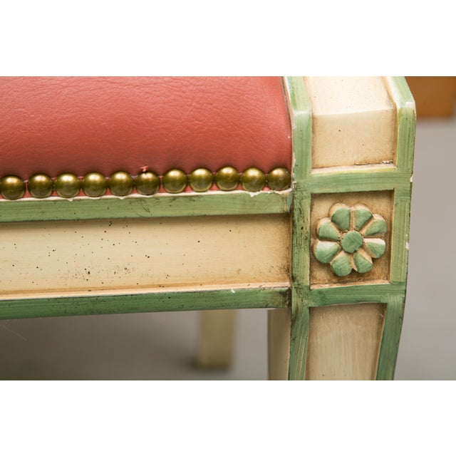 Regency Style Painted Dining Chairs - Set of 6 For Sale In West Palm - Image 6 of 12