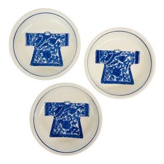 Blue Kimono Catchall Dishes - Set of 3
