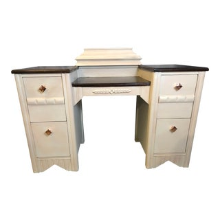 1970s Shabby Chic Pine Vanity For Sale