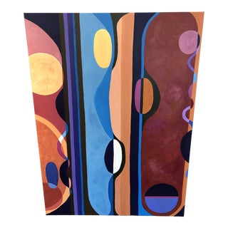 Large Bold Abstract Original Painting on Canvas For Sale