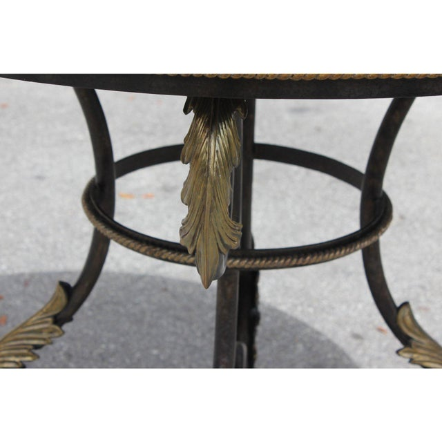 1950s French Art Deco Iron Center Table For Sale In Miami - Image 6 of 12