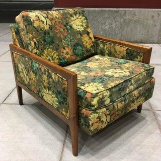 Danish-Modern Wormley Dunbar Style Sculptural Walnut Lounge Chair Preview