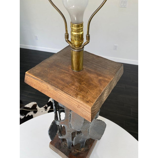 """1960s Mid Century Witco Brutalist Lamp From the """"Metal Shapes"""" Line For Sale - Image 5 of 11"""
