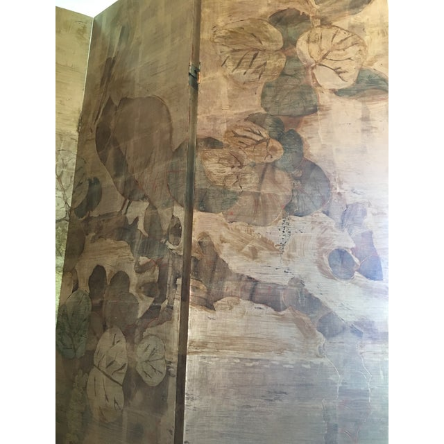 Hand Painted Folding Screen - Image 2 of 7
