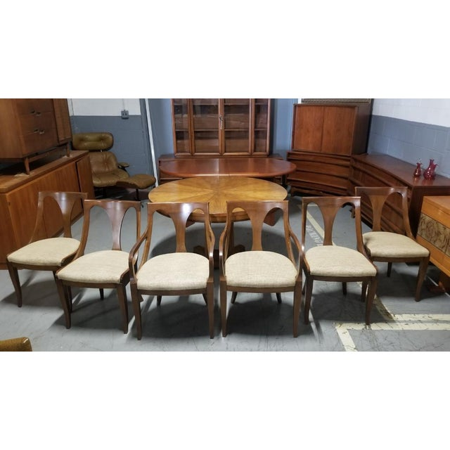 Empire 1950's Baker Furniture Palladian Collection Dining Furniture-Set of 7 For Sale - Image 3 of 10