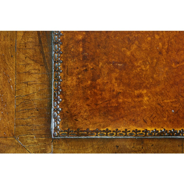 George II Style Walnut Pedestal Desk For Sale - Image 4 of 12