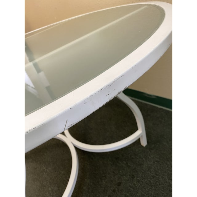 Janus Et Cie Frosted Glass Dining Table For Sale In San Francisco - Image 6 of 11