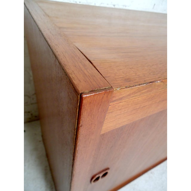 Brown Mid-Century Modern Danish Credenza For Sale - Image 8 of 11