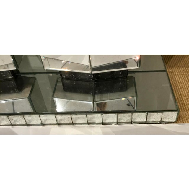 Transparent Maitland Smith Modern Mirrored Console Table For Sale - Image 8 of 12