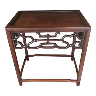 "Late 20th Century 11"" Chinoiserie Carved Wood Stand For Sale"