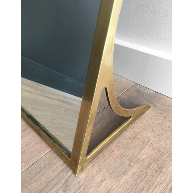 Brass Dressing Mirror Made for Shoes For Sale In New York - Image 6 of 11