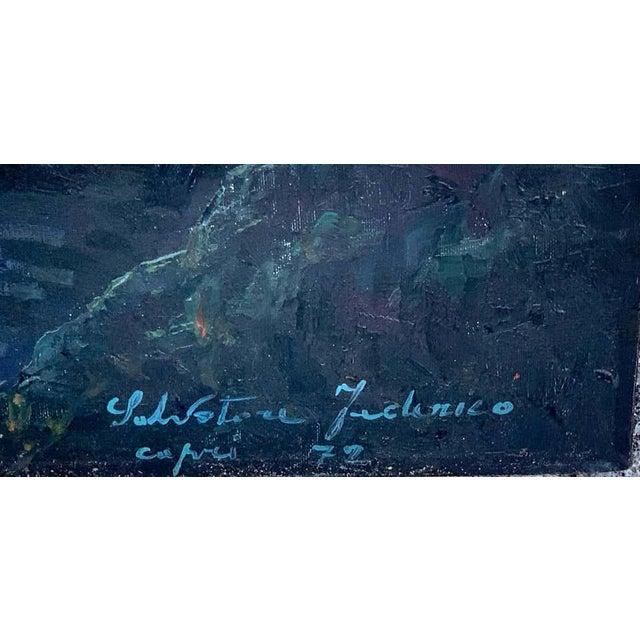 Italian Evening Capri Seascape by Salvatore Federico, Italian, 20th Century For Sale - Image 3 of 11
